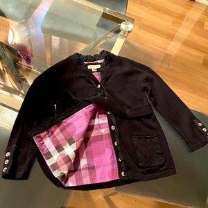 Burberry girls blouse-jacket.